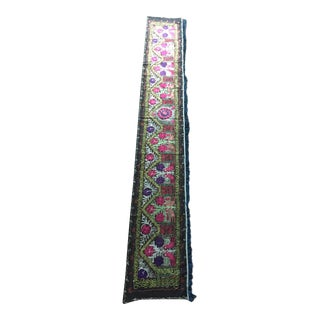 Vintage Uzbekistan Embroidered Silk Suzani Wall Runner