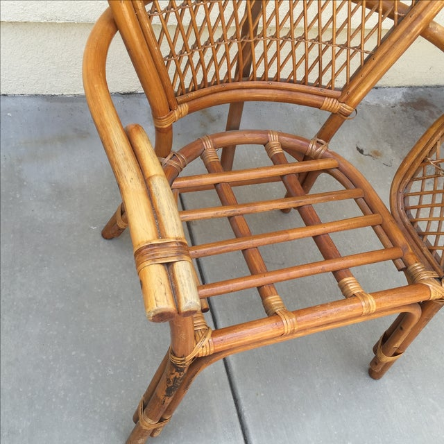 Image of Vintage Rattan Bamboo Chair