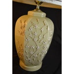 Image of Traditional Lamp with Raised Floral Motif