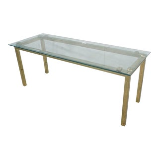 Brass and Glass Hollywood Regency Occasional Table