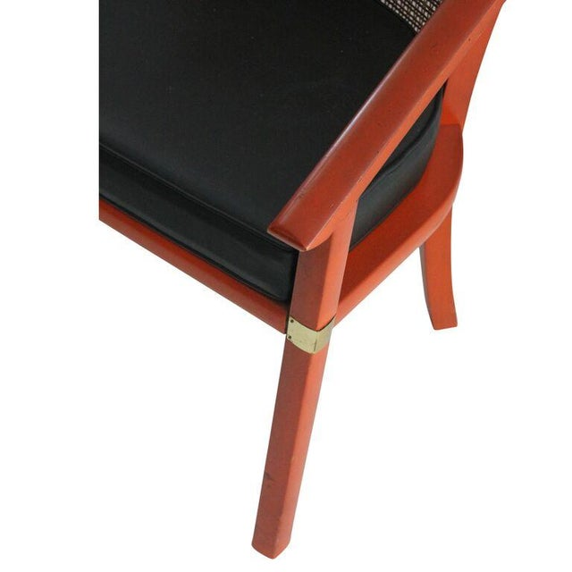 Mid Century Occasional Chair with Cane Back - Image 2 of 3