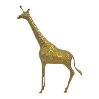 Mid-Century Brass Giraffe