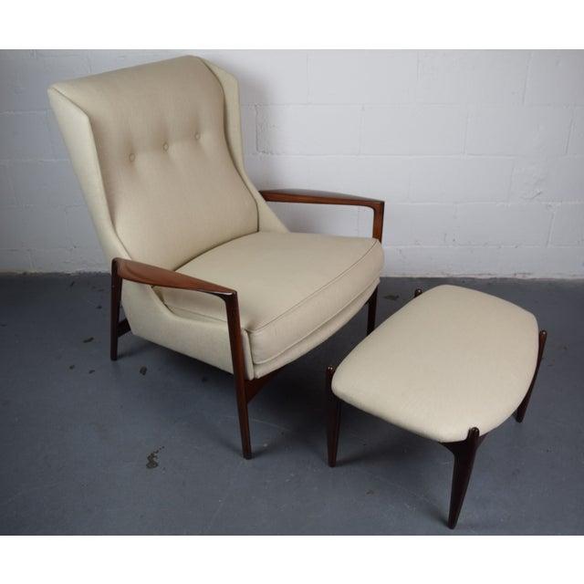 Kofod-Larsen Mid Century Lounge Chair & Ottoman - Image 6 of 6