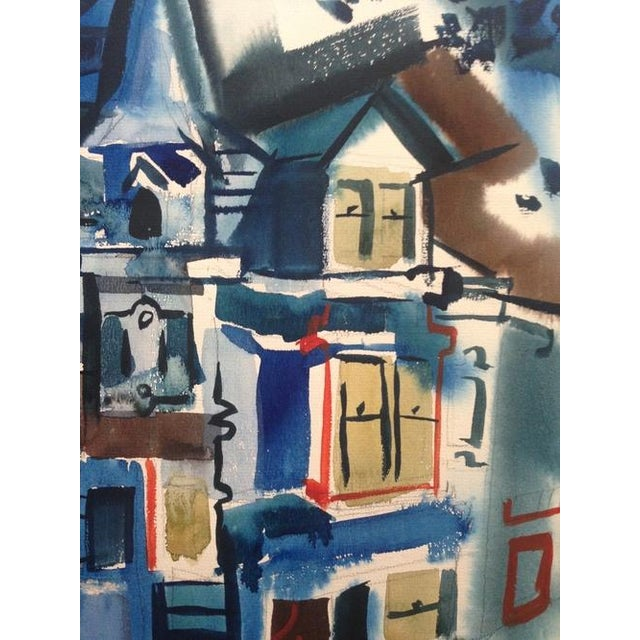 1965 Gouache Painting Victorian House - Image 3 of 6