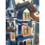 Image of 1965 Gouache Painting Victorian House