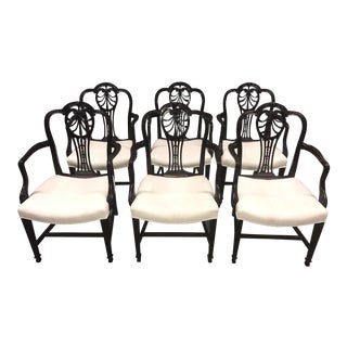 Carved Mahogany Dining Chairs - Set of 6