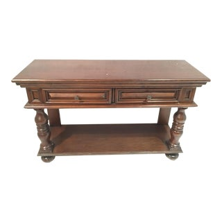 Traditional Wood Sofa Table