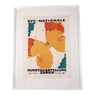 Framed Zurich Art Exhibition Poster After Augusto Giacometti