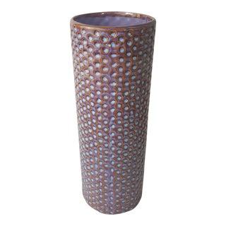 Cylindrical Dot Texture Pottery Vase