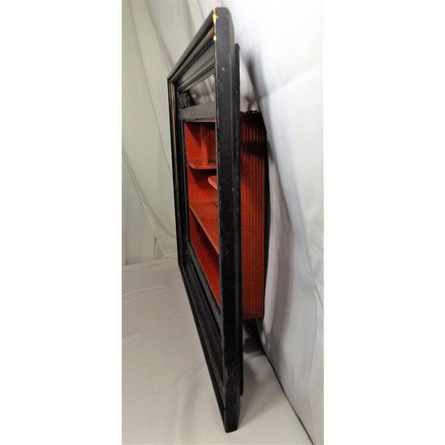 Mid Century Modern Mirrored Shelves Shadow Box Chairish