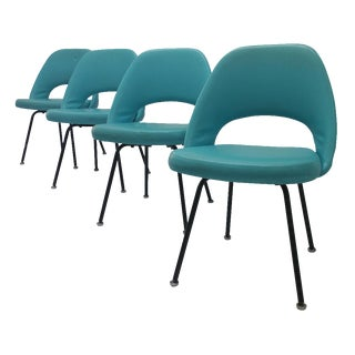 Eero Saarinen Turquoise Chairs - Set of 4
