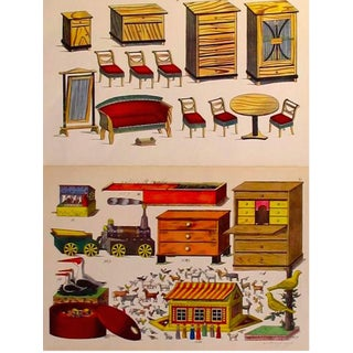 1870s Toy & Dollhouse Design Planches- Set of 2