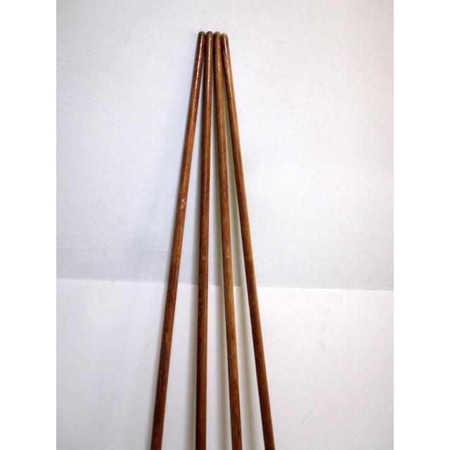 1940s Folk Art Shuffleboard Sticks - Image 4 of 8