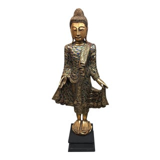 Buddha Carved Wood Statue