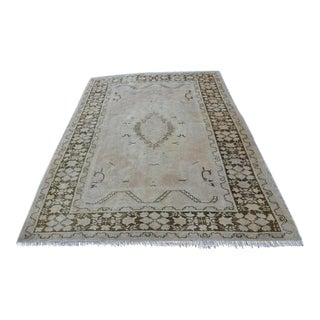 "Turkish Floor Antique Wool Rug -- 5'11"" X 8'6"""
