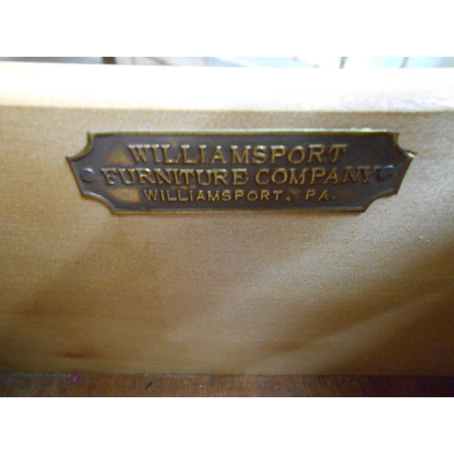 Williamsport Mid Century Reverse Bow Commode Chest - Image 10 of 10