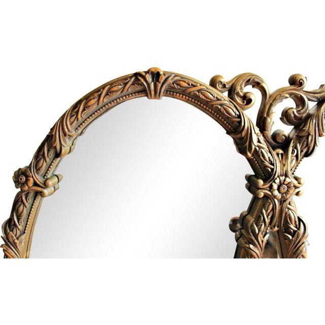 French Triple Oval Gold Mirror-Vintage - Image 3 of 4