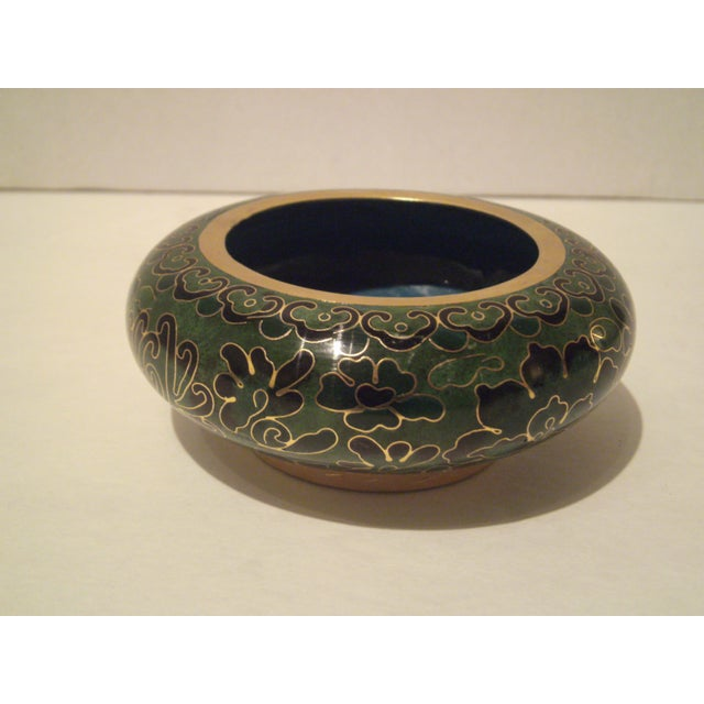 Emerald Green Cloisonne Footed Bowl - Image 3 of 8