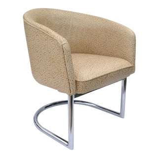 Milo Baughman Chrome Tub Club Chair