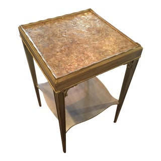 Transitional Mica Top Accent Table