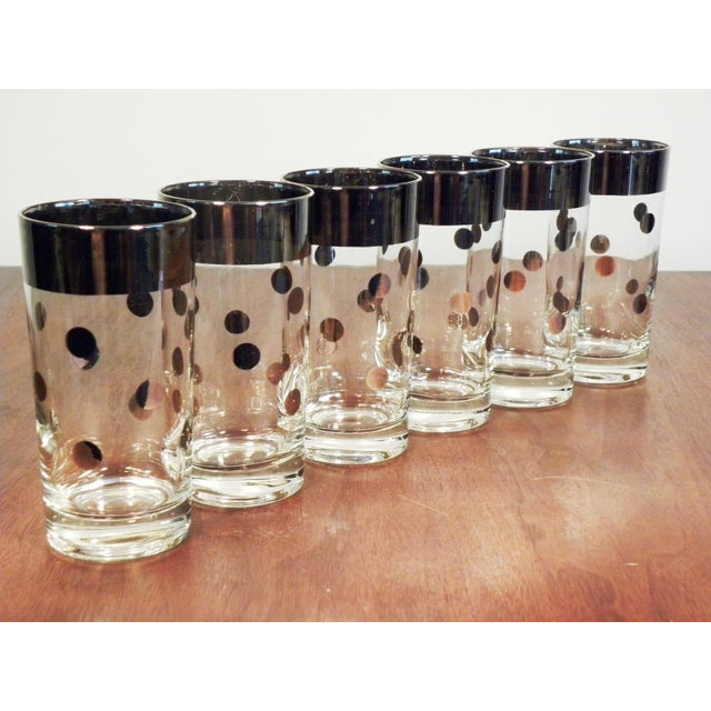 Dorothy Thorpe Silver Dot Tall Glasses - Set of 6 - Image 3 of 7