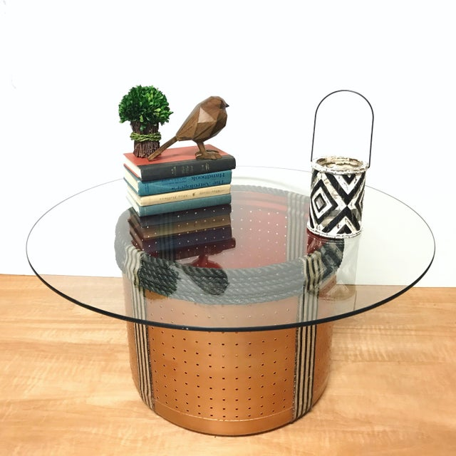 Dryer Drum Coffee Table - Image 6 of 9