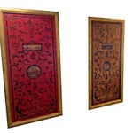 Image of Large Gold Hand-Carved Wood Art Wall Panel