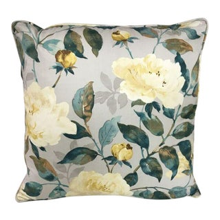 Kim Salmela Blue and White Floral Pillow