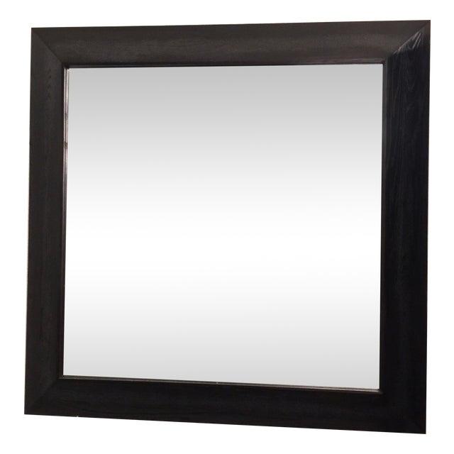 Modern Large Beveled Dark Wood Frame Mirror - Image 1 of 6