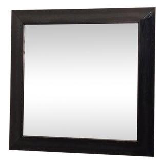 Modern Large Beveled Dark Wood Frame Mirror