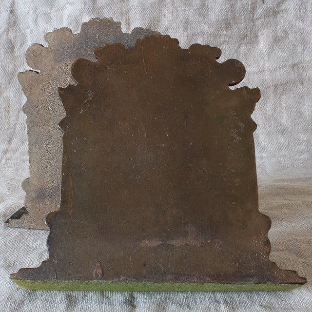 Antique Fraternal Bronze Elks Club Bookends - Pair - Image 8 of 8