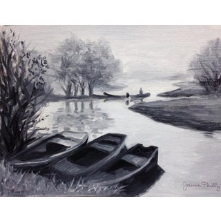"""""""Boats"""", Oil on Canvas"""