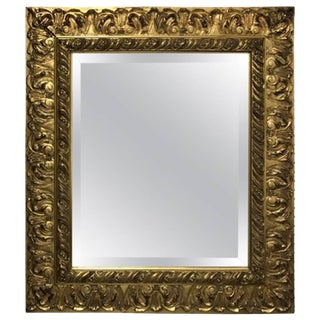 Giltwood Mirror with Beveled Glass