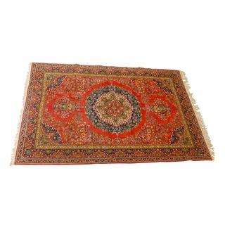 Vintage Turkish Oushak Rug - 6′10″ × 9′9″