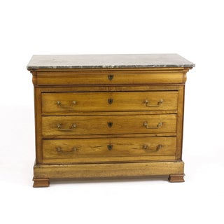 19th C. Louis Philippe Walnut & Marble Top Commode