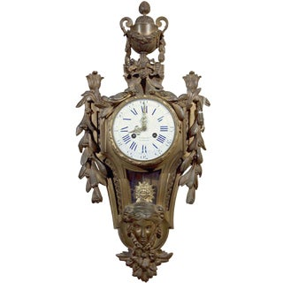19th Century Bronze Cartel Clock