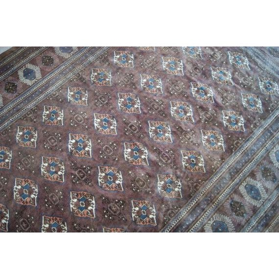 "Antique Turkoman Rug: Vintage Turkoman Bokhara Rug - 8'1"" X 11'7"""
