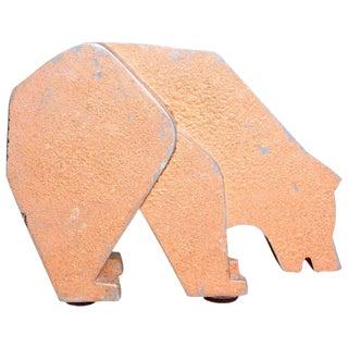 Aluminum and Metal Store Display Bear