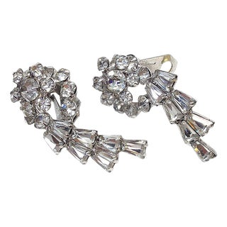 Juliana Clip On Rhinestone Earrings