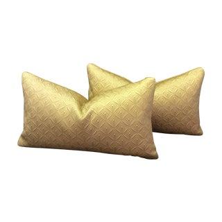 Custom Made Gold Pillows - Pair