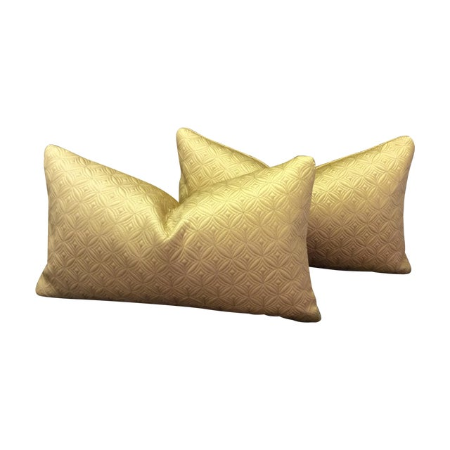 Image of Custom Made Gold Pillows - Pair
