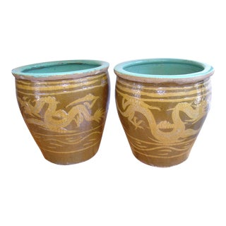 Pair of Chinese Earthenware Planters