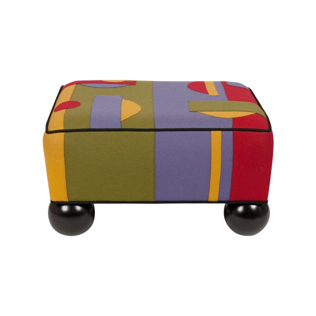 Colorful Limited Edition Ottoman - Image 1 of 5