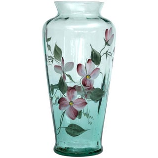 Fenton Art Glass Hand-Painted Vase