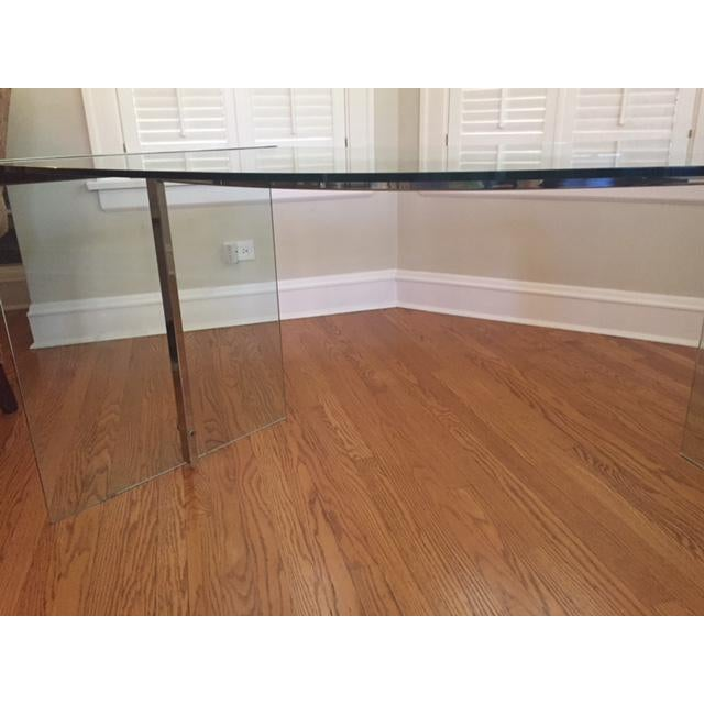 DIA Curved Glass & Chromed Steel Writing Desk - Image 10 of 10