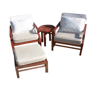 4-Piece Teak Patio Conversation Set