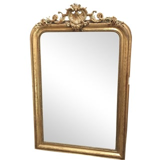 24KT Gold French Rococo-Style Mercury Mirror