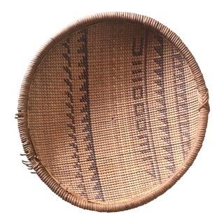 Woven Tribal Wall Basket