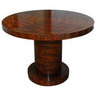 Contemporary Mahogany Pedestal Table