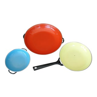 Enameled Steel Saute Pans - Set of 4